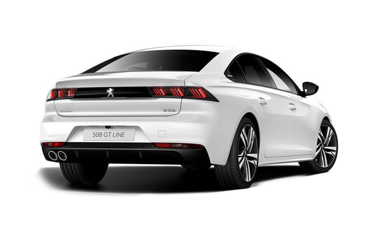Peugeot 508 Fastback HYBRID 1.6 PHEV 11.8kWh 225PS GT Line Edition 5Dr EAT8 [Start Stop] back view