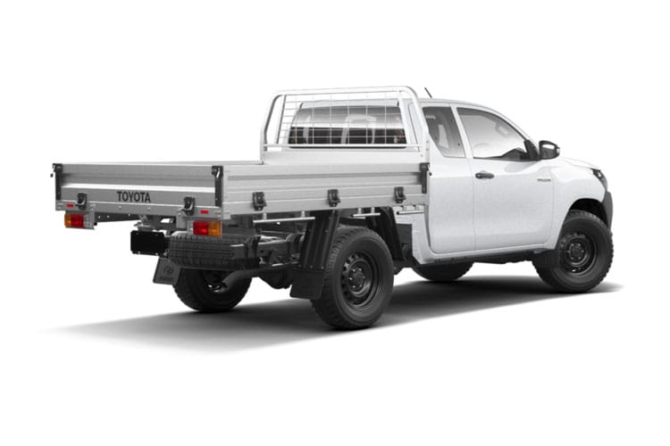 Toyota Hilux PickUp Extra Cab 4wd 3.5t 2.4 D-4D 4WD 150PS Active Dropside Dropside Double Cab Manual [Safety Sense] back view